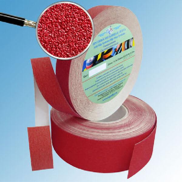 Противоскользящая абразивная лента SlipStop 60-80 grit 25 мм, 18,3 м красный