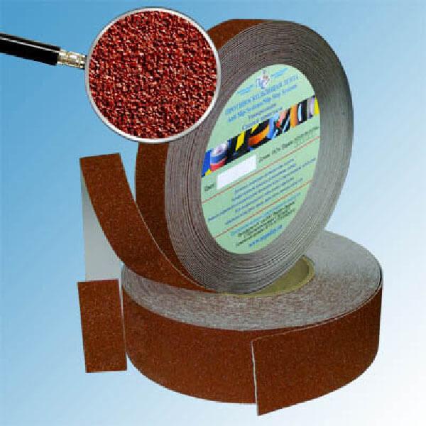 Противоскользящая абразивная лента SlipStop 60-80 grit 25 мм, 18,3 м коричневый