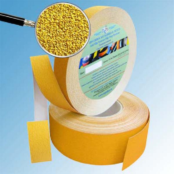 Противоскользящая абразивная лента SlipStop 60-80 grit 25 мм, 18,3 м желтый