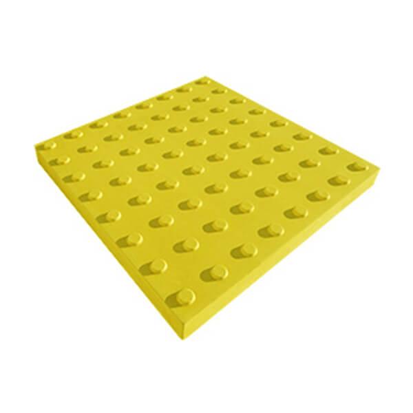 Бетонная тактильная плитка Линейный конус 500x500x60 мм