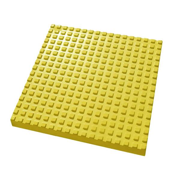 Бетонная тактильная плитка Квадратный риф 500x500x50 мм