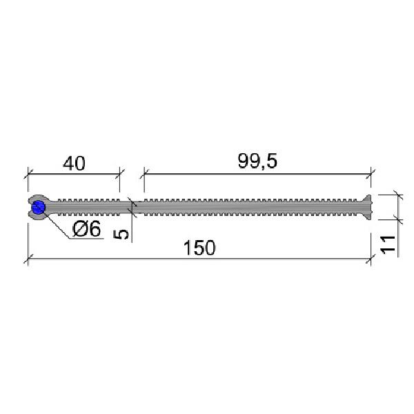 Гидрошпонка ПВХ ХВН-150 (2хD6)