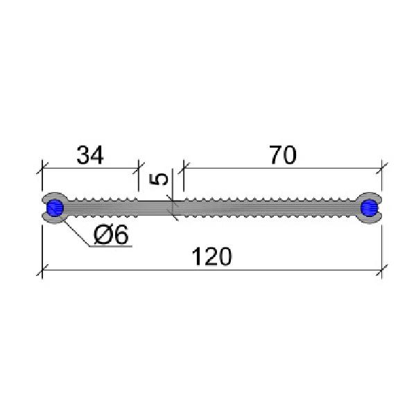 Гидрошпонка ПВХ ХВН-120 (2хD6)