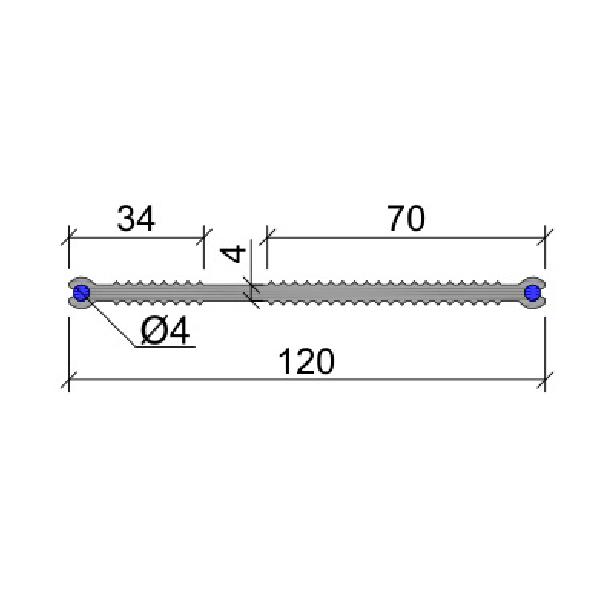 Гидрошпонка ПВХ ХВН-120 (2хD4)