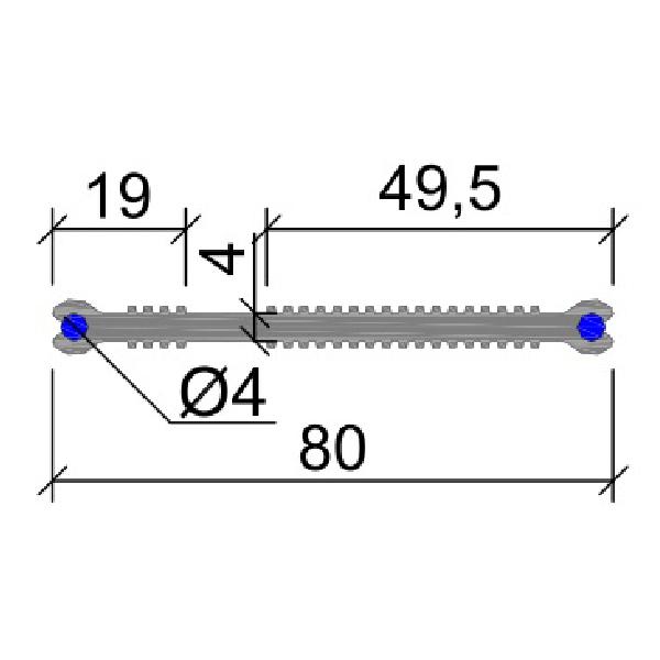 Гидрошпонка ПВХ ХВН-80 (2хD4)