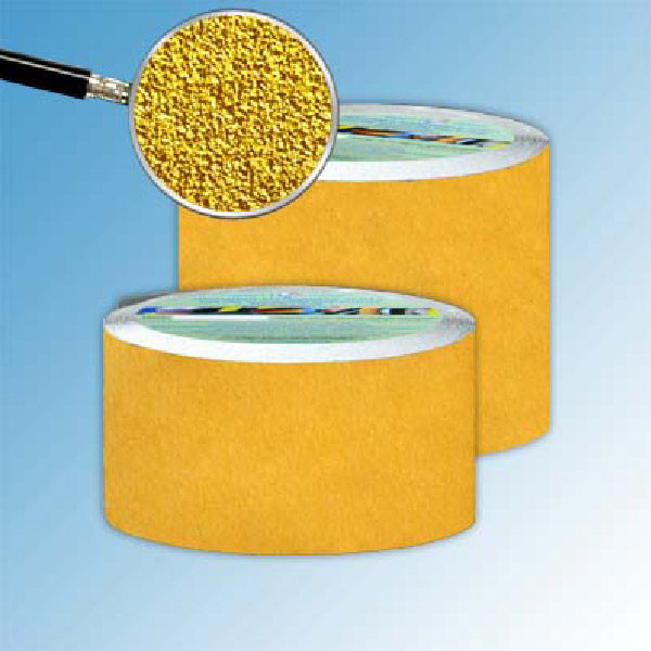 Противоскользящая абразивная лента SlipStop 60-80 grit 100 мм, 18,3 м желтый