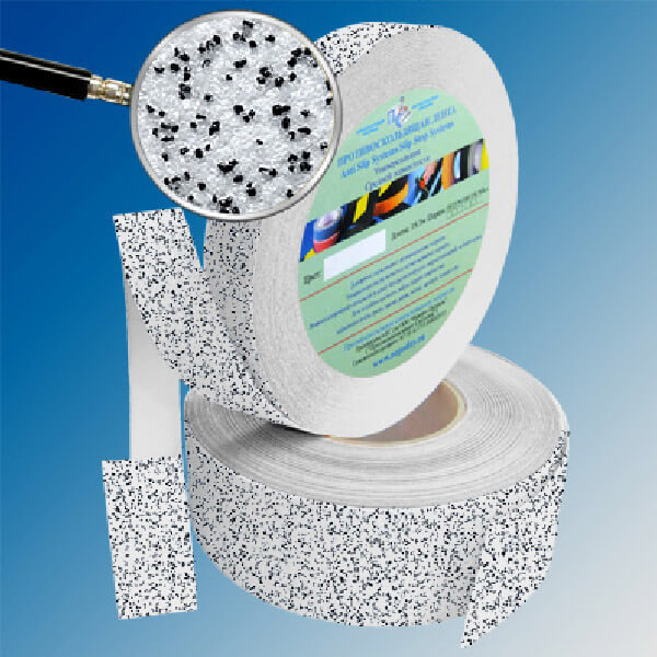 Противоскользящая абразивная лента AntiSlip Systems 60 grit, 25 мм, 18.3 м бело-черный мрамор