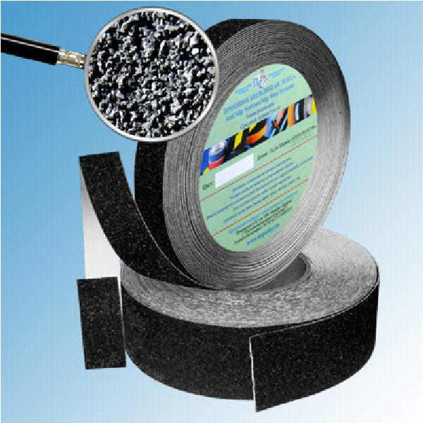 Противоскользящая абразивная черная лента Antislip Systems 40 grit, 18.3 м, 25 мм
