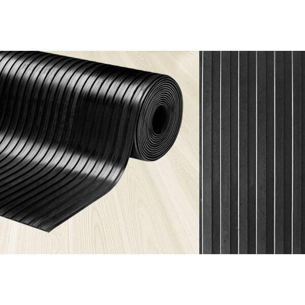 Рулонное резиновое покрытие 3мм, 1.5 м, длина 10 м, рифленка