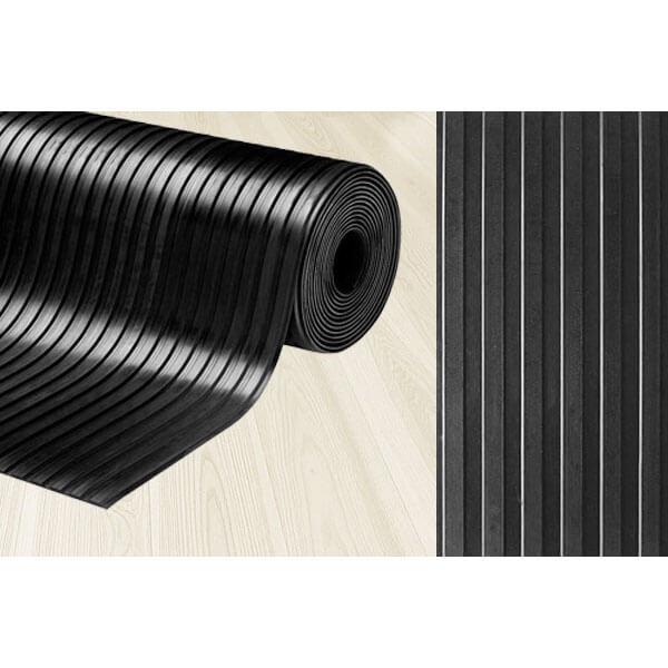 Рулонное резиновое покрытие 3мм, 1.5 м, длина 5 м, рифленка