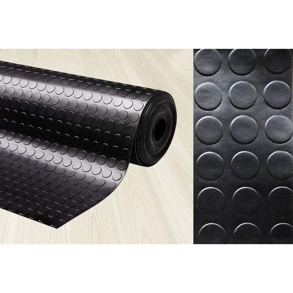 Рулонное резиновое покрытие 3мм, 1.5 м, длина 10 м, монетка