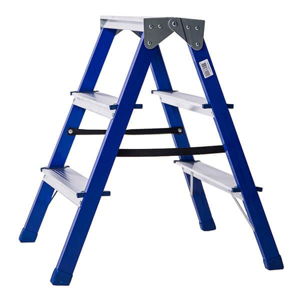 Стремянка стальная двухсторонняя 3 ступени