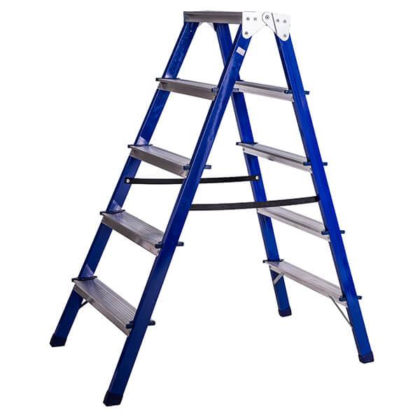 Стремянка стальная двухсторонняя 5 ступеней
