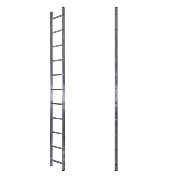 Лестница алюминиевая односекционная приставная 11 ступеней