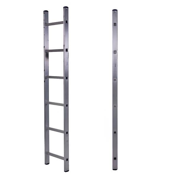 Лестница алюминиевая односекционная приставная 6 ступеней