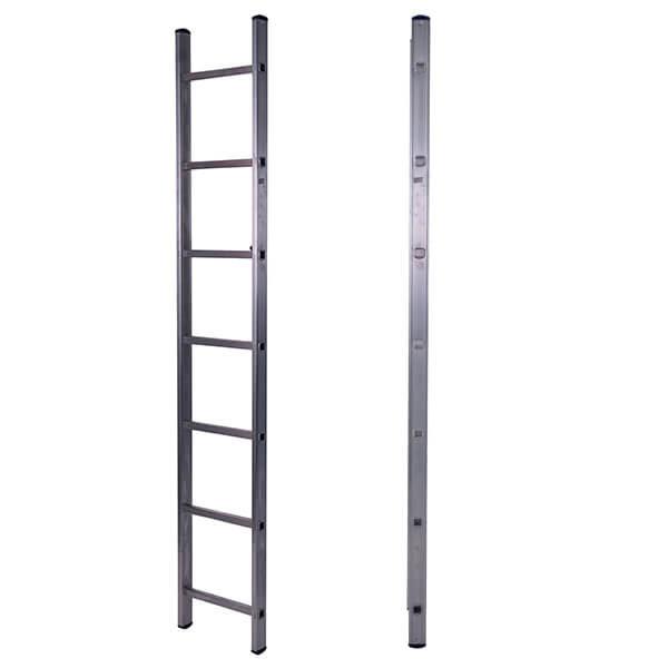 Лестница алюминиевая односекционная приставная 7 ступеней