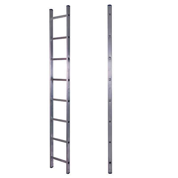 Лестница алюминиевая односекционная приставная 8 ступеней