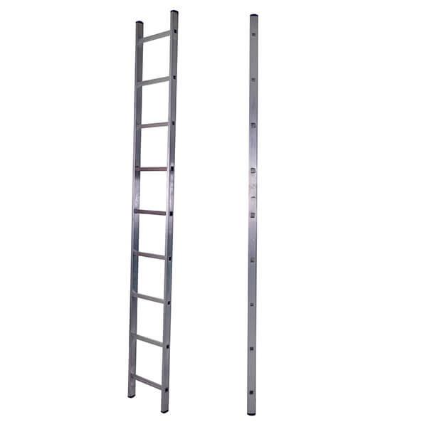 Лестница алюминиевая односекционная приставная 9 ступеней