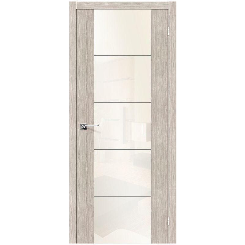 Межкомнатная дверь V4 WР, Cappuccino Veralinga, White Pearl