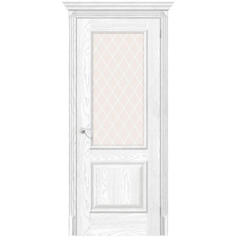Межкомнатная дверь Классико-13, Silver Ash, White Сrystal