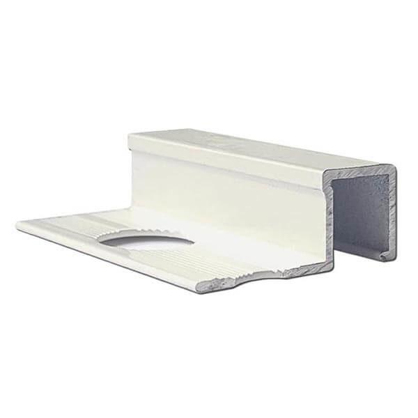 Алюминиевый профиль для П-образной окантовки П-10-10-БГ белый/глянцевый