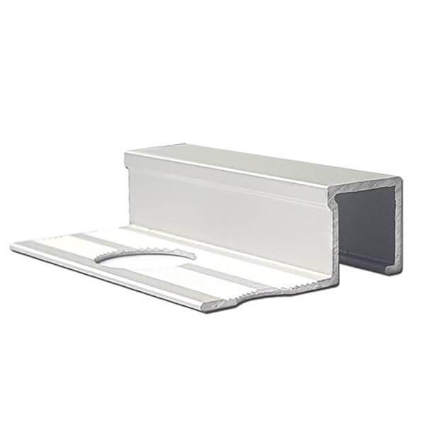 Алюминиевый профиль для П-образной окантовки П-10-10-СМ серебро/матовый