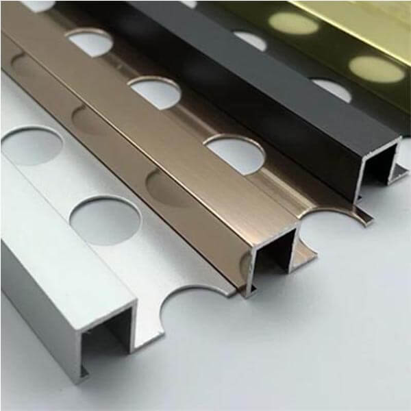 Алюминиевый профиль для П-образной окантовки П-10-10-ЗМ золото/матовый