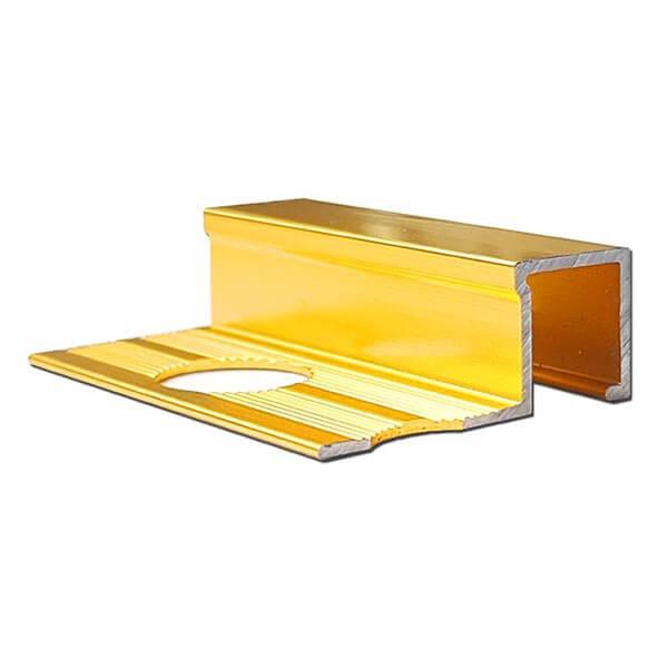 Алюминиевый профиль для П-образной окантовки П-10-10-ЗГ золото/глянцевый