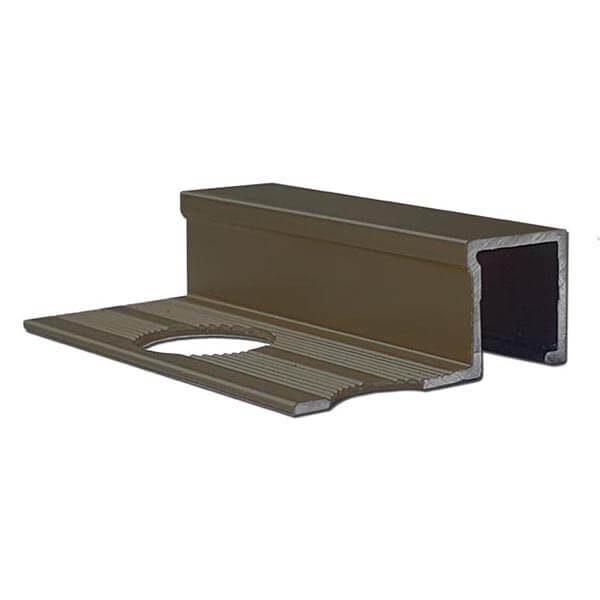 Алюминиевый профиль для П-образной окантовки П-10-10-БМ бронза/матовый