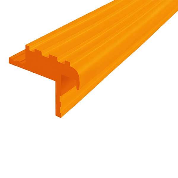Закладной противоскользящий профиль «Безопасный Шаг Премиум» (БШ-40) оранжевый