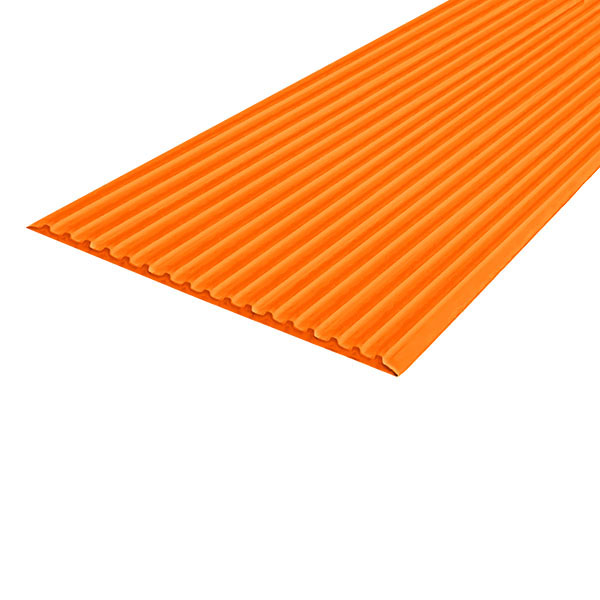 Противоскользящая тактильная направляющая самоклеющаяся полоса 80 мм, 10 м оранжевый