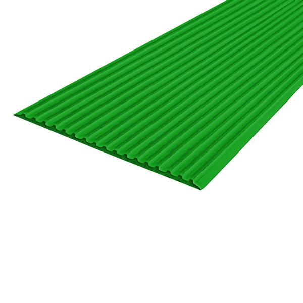 Противоскользящая тактильная направляющая самоклеющаяся полоса 80 мм, 10 м зеленый