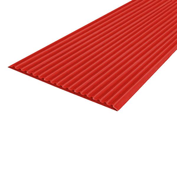 Противоскользящая тактильная направляющая самоклеющаяся полоса 80 мм, 25 м красный