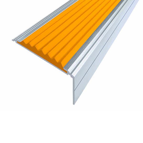 Противоскользящий алюминиевый угол-порог Премиум 50 мм 1,0 м оранжевый